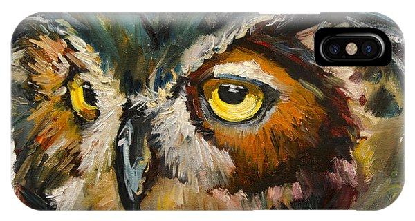 Owl Eye IPhone Case