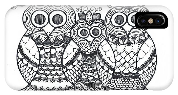 Owl Family IPhone Case