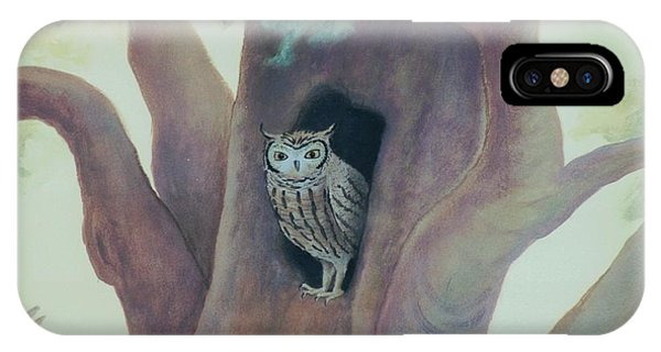 Owl In Tree IPhone Case