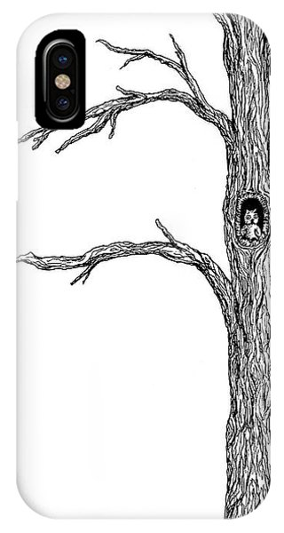 Owl Ink Tree IPhone Case