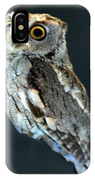 Owl On Black Phone Case by Michael Riley