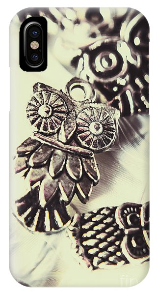 Jewelery iPhone Case - Owl Pendants. Charms Of Wisdom by Jorgo Photography - Wall Art Gallery