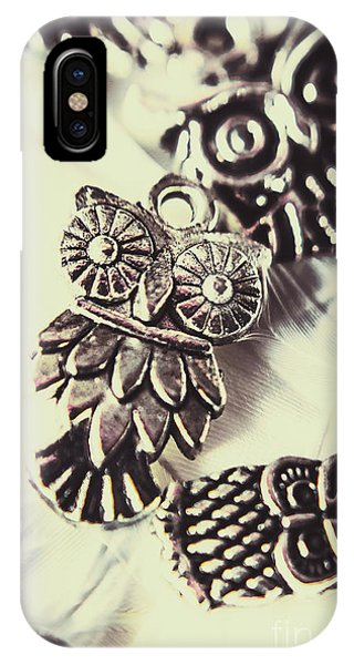 Necklace iPhone Case - Owl Pendants. Charms Of Wisdom by Jorgo Photography - Wall Art Gallery