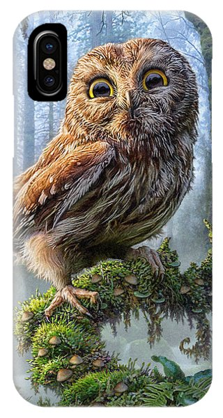Owl Perch IPhone Case