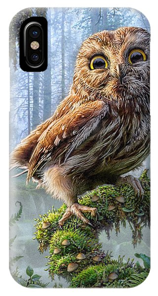 Northwest iPhone Case - Owl Perch by Phil Jaeger