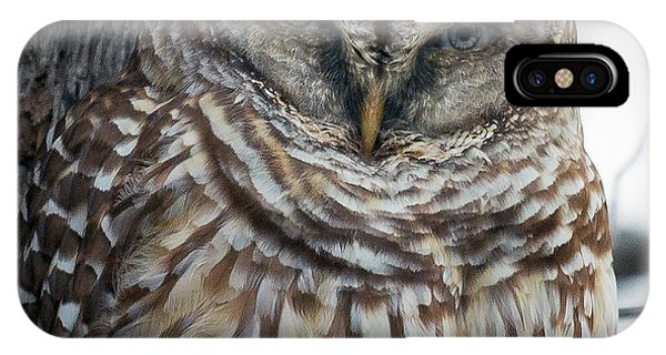 Mottled iPhone Case - Owl See You Soon by Betsy Knapp