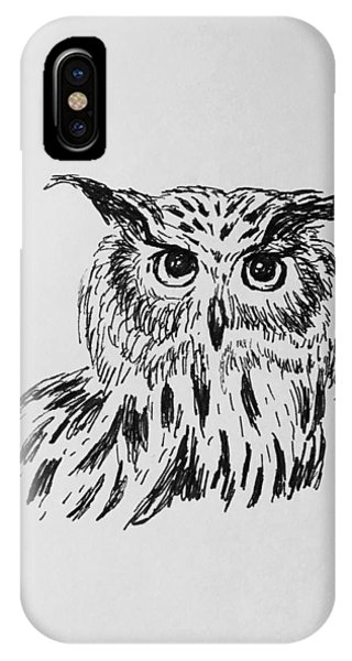 Owl Study 2 IPhone Case
