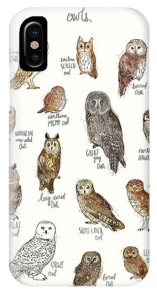 Snowy iPhone Case - Owls by Amy Hamilton