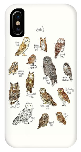 Elf iPhone X Case - Owls by Amy Hamilton
