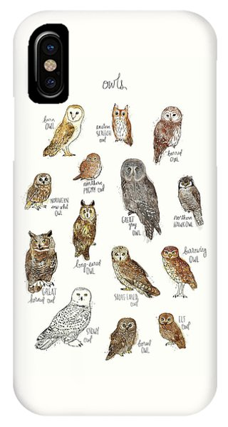 Elf iPhone Case - Owls by Amy Hamilton