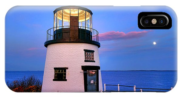 Navigation iPhone Case - Owls Head Light Evening by Olivier Le Queinec