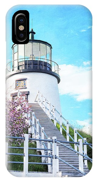 Owl's Head Light In Early June IPhone Case