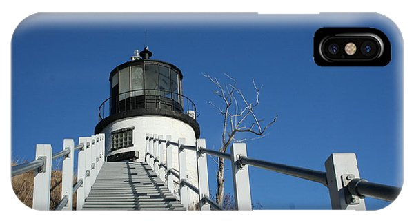 Owls Head Lighthouse Winter IPhone Case
