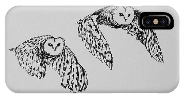 Owls In Flight IPhone Case