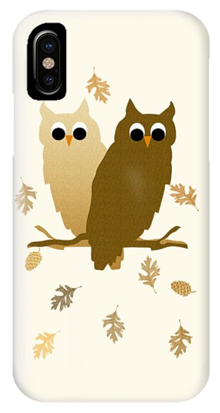 Fall iPhone Case - Owls Pattern Art by Christina Rollo