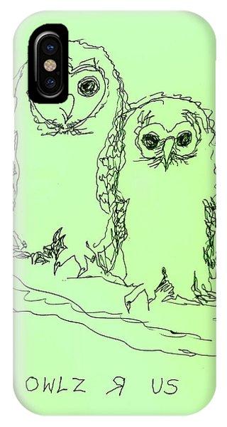 Owlz R Us IPhone Case