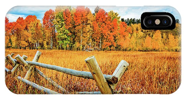 Oxbow Bend Fall Color IPhone Case