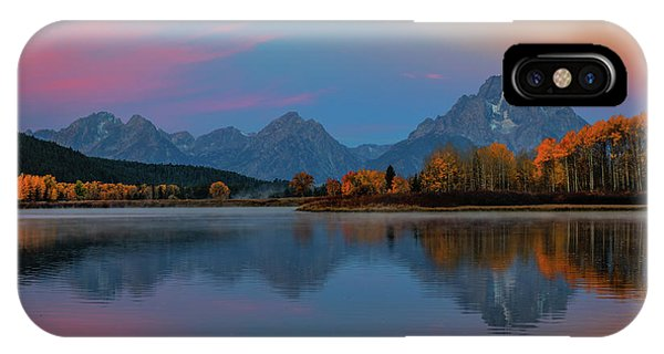 Teton iPhone Case - Oxbows Reflections by Edgars Erglis