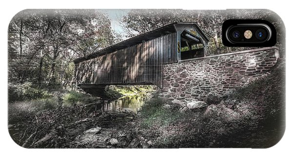 Covered Bridge iPhone Case - Oxford Covered Bridge by Marvin Spates