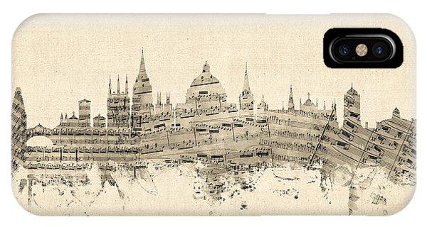 Oxford England Skyline Sheet Music IPhone Case