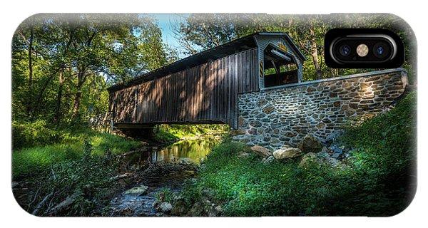 Covered Bridge iPhone Case - Oxford Pennsylvania Bridge by Marvin Spates