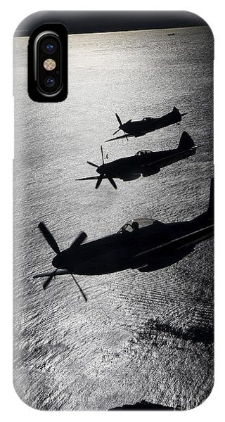 Airplane iPhone Case - P-51 Cavalier Mustang With Supermarine by Daniel Karlsson
