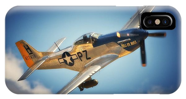 P-51 Mustang Hell Er Bust IPhone Case