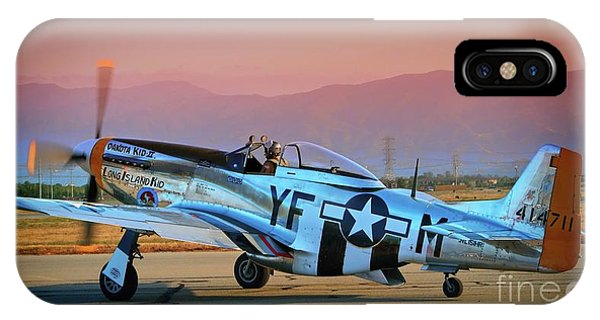 P-51d Mustang 'dakota Kid II. The Long Island Kid' And Casey Odegaard IPhone Case