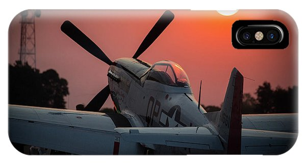 P51 Sunset IPhone Case