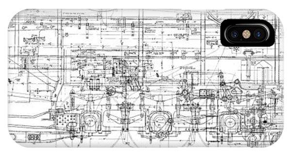 Pacific Locomotive Diagram IPhone Case