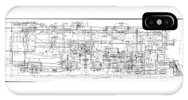 Pacific Locomotive Diagram IPhone Case