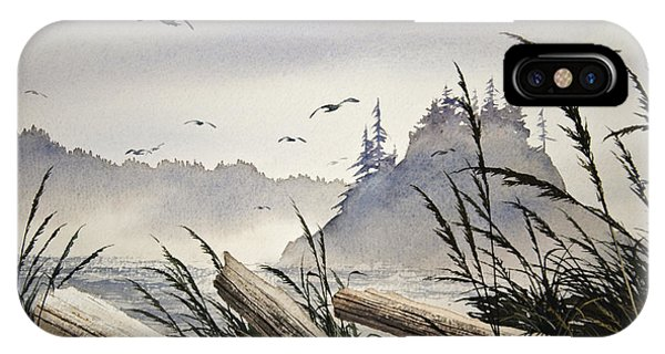Pacific Northwest Driftwood Shore IPhone Case