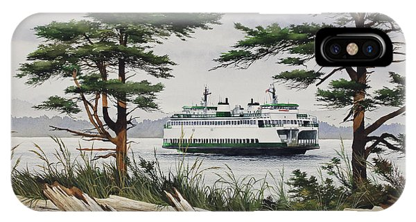 Port Townsend iPhone Case - Island Shore - Washington State Ferry by James Williamson