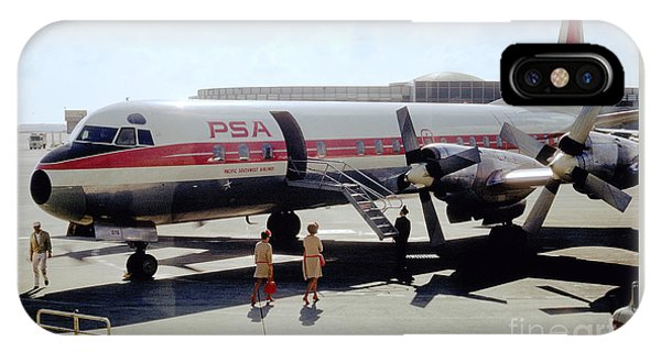 Pacific Southwest Airlines Lockheed L-188c, N376ps IPhone Case