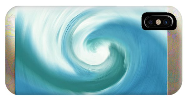 Pacific Swirl With Border IPhone Case