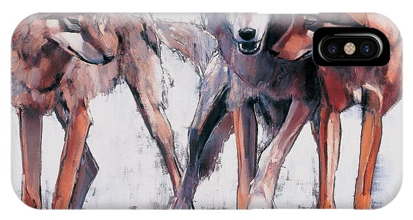 Wolf iPhone Case - Pack Leaders by Mark Adlington