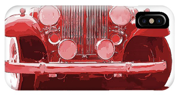 Packard Ask The Man Red IPhone Case