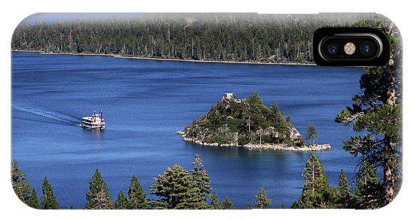 IPhone Case featuring the photograph Paddle Boat Emerald Bay Lake Tahoe California by Steven Frame
