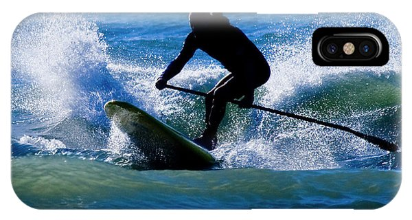 Tidal iPhone Case - Paddleboarding by Betsy Knapp