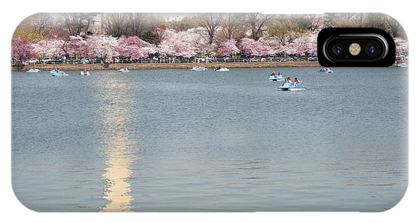 iPhone Case - Paddleboating At Cherry Blossom Time In Washington Dc by William Kuta