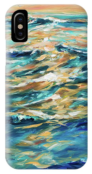 Paddling Out At Sunset IPhone Case