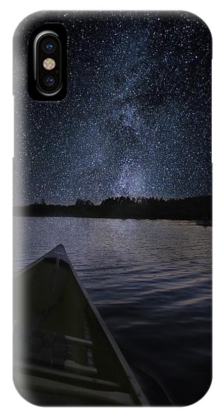 Paddling The Milky Way IPhone Case