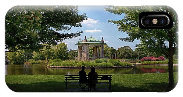 IPhone Case featuring the photograph Pagoda Circle Interlude by Susan Rissi Tregoning