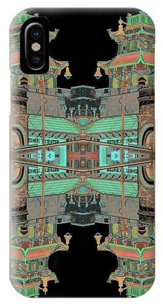 IPhone Case featuring the photograph Pagoda Tower Becomes Chinese Lantern 1 Chinatown Chicago by Marianne Dow