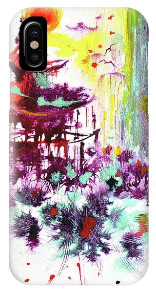 IPhone Case featuring the painting Pagoda by Zaira Dzhaubaeva