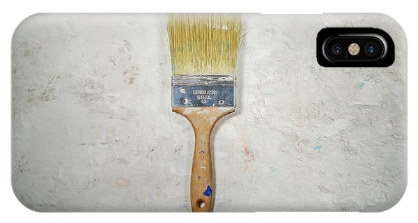 Stainless Steel iPhone Case - Paint Brush by Scott Norris