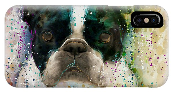 French Bull Dog iPhone Case - Paint It Frenchie by Barbara Chichester