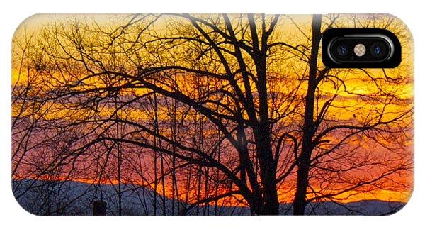 Paint Night Sunset IPhone Case