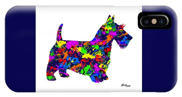 Paint Splatter Scottish Terrier IPhone Case