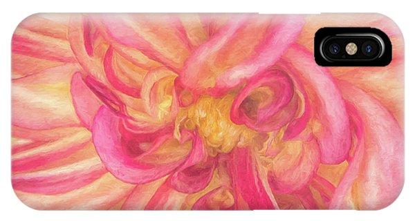 Painted Dahlia IPhone Case
